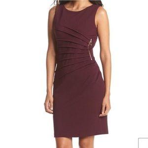 Maroon Ivanka Trump Dress with Gold Zip - Size 16